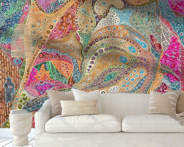 Sfeerimpressie behang: Octopus van Mohamed Hamida