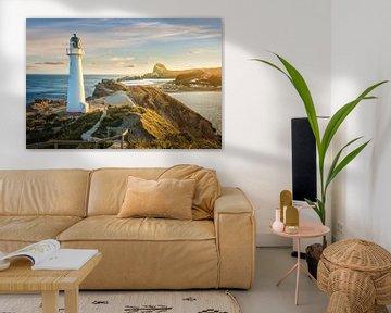 Phare de Castle Point sur la côte de Wairarapa, Nouvelle-Zélande sur Christian Müringer