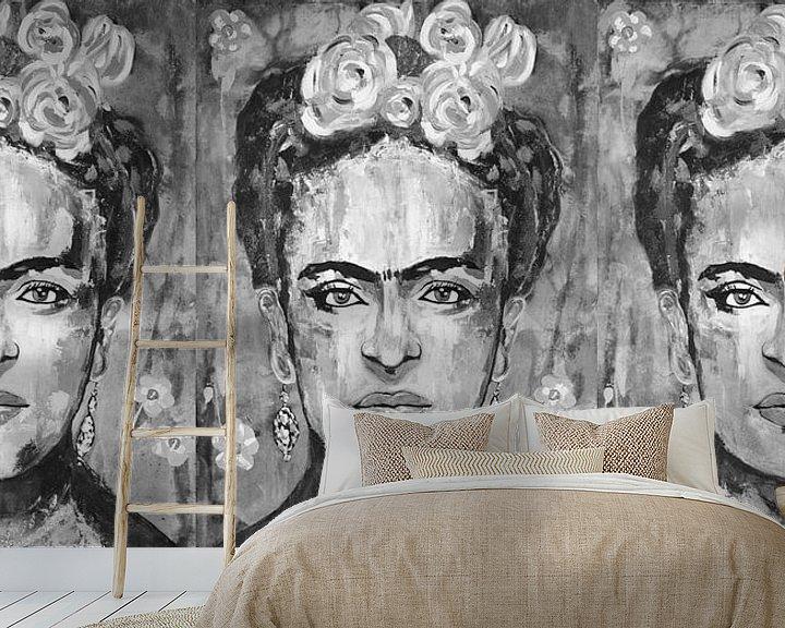Beispiel fototapete: Dreifache Frida Kahlo von Kathleen Artist Fine Art
