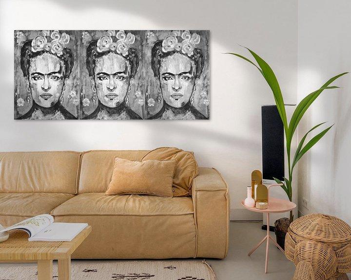 Beispiel: Dreifache Frida Kahlo von Kathleen Artist Fine Art