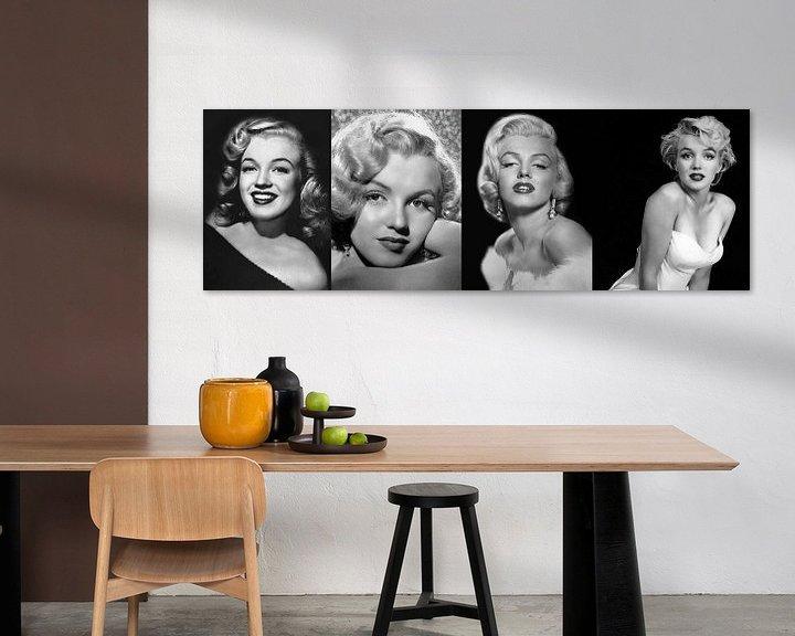 Sfeerimpressie: Collage Marilyn Monroe van Brian Morgan
