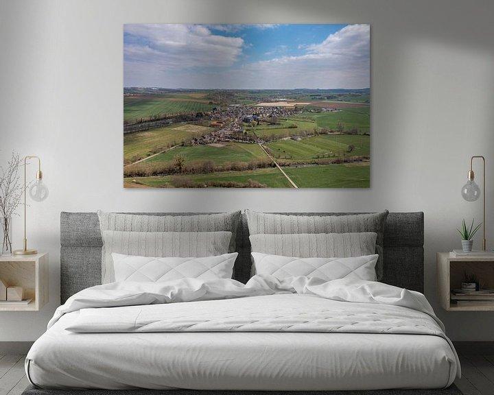 Sfeerimpressie: Luchtfoto van dorpje Partij in Zuid-Limburg van John Kreukniet