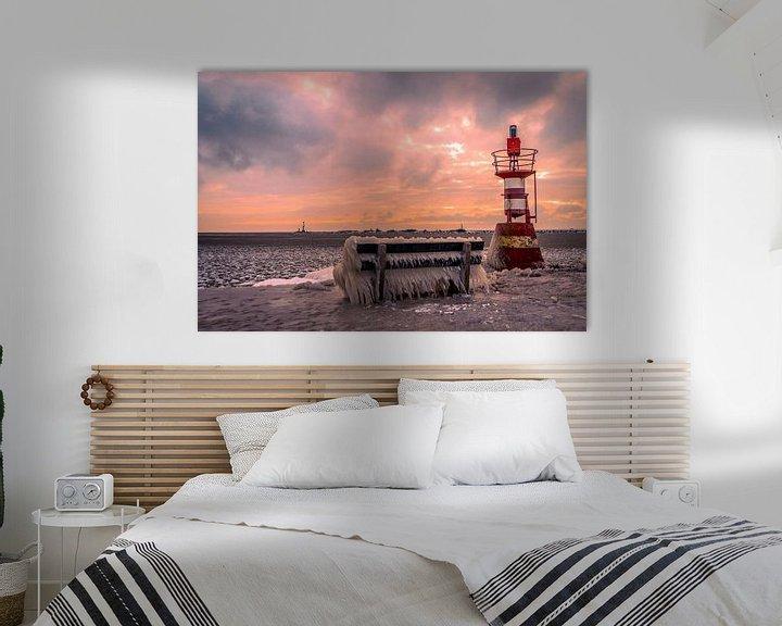 Beispiel: Enkhuizen im Winter an der Waterfront in Nordholland von Evelien van der Horst