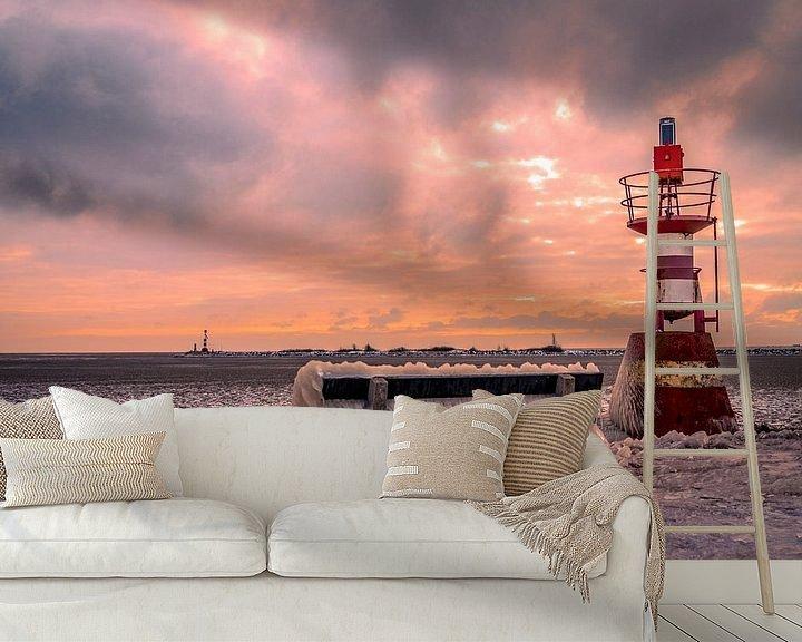 Beispiel fototapete: Enkhuizen im Winter an der Waterfront in Nordholland von Evelien van der Horst