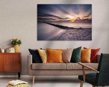 Het IJsselmeer in Friesland van Damien Franscoise