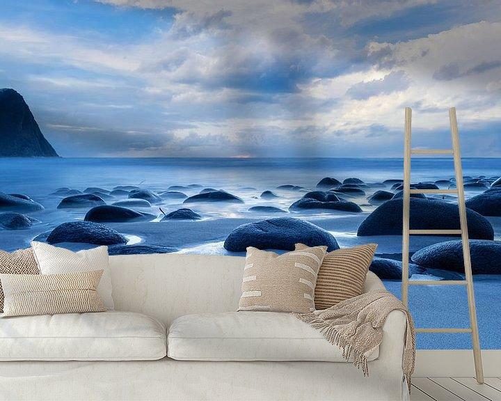 Sfeerimpressie behang: Strand in Noorwegen van Tilo Grellmann | Photography