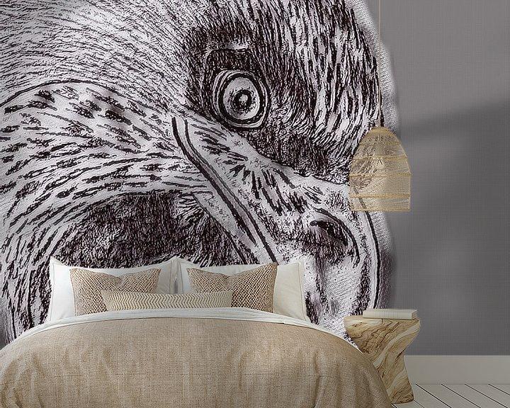 Beispiel fototapete: Eagle ( Zeichnung geändert ) von Jose Lok