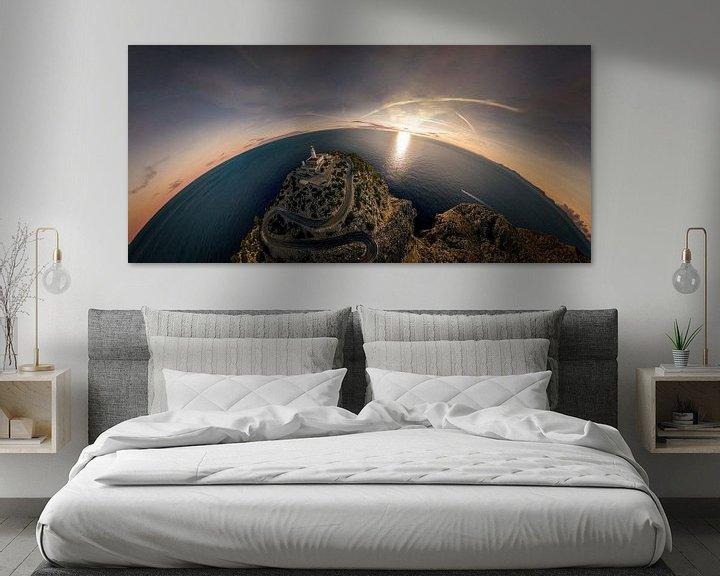 Sfeerimpressie: Sferisch panorama van een vuurtoren in Mallorca van Jonas Weinitschke