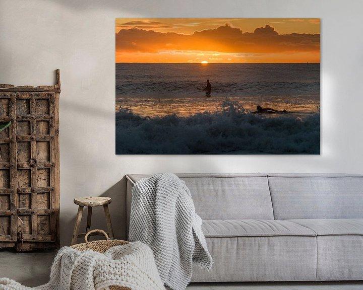 Beispiel: Surfen bei Sonnenaufgang von Jim De Sitter