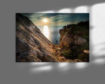 Zonsondergang in de bergen van Sardinië van Damien Franscoise