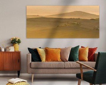 Toscaans landschap tijdens de zonsopkomst van Damien Franscoise