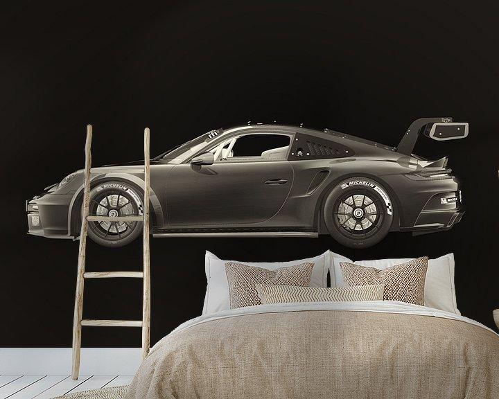 Sfeerimpressie behang: Porsche 911 GT-3 RS 2021 van Jan Keteleer