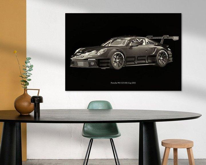 Sfeerimpressie: Porsche 911 GT-3 RS 2021 raceversie 2 van Jan Keteleer
