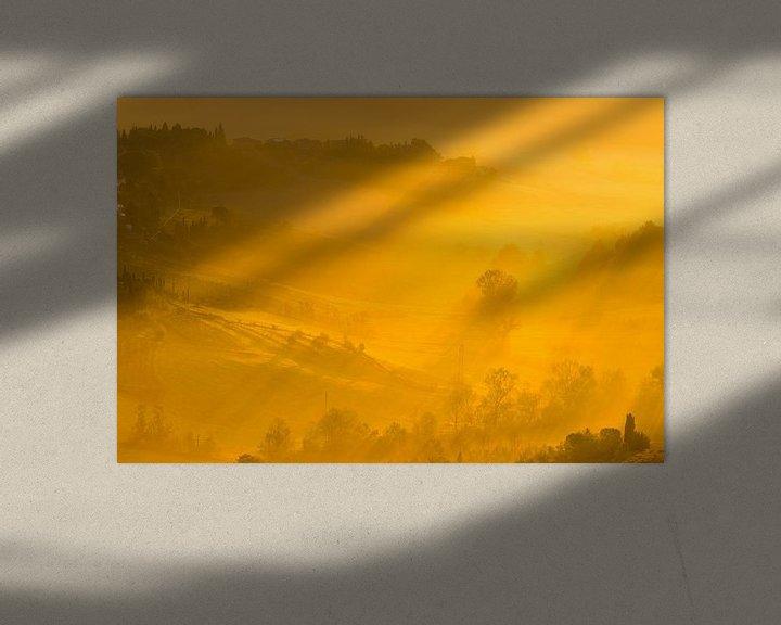 Sfeerimpressie: Zonsopkomst in de Toscaanse heuvels van Damien Franscoise
