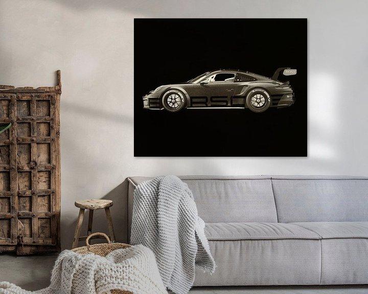 Sfeerimpressie: Porsche 911 GT-3 RS - Cup 2021 zijde van Jan Keteleer