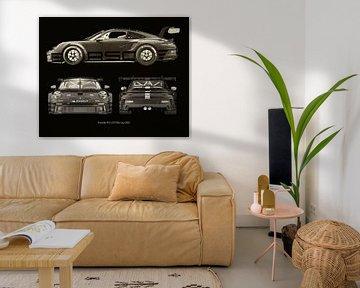 Porsche 911 GT-3 RS - Cup 2021 zijden