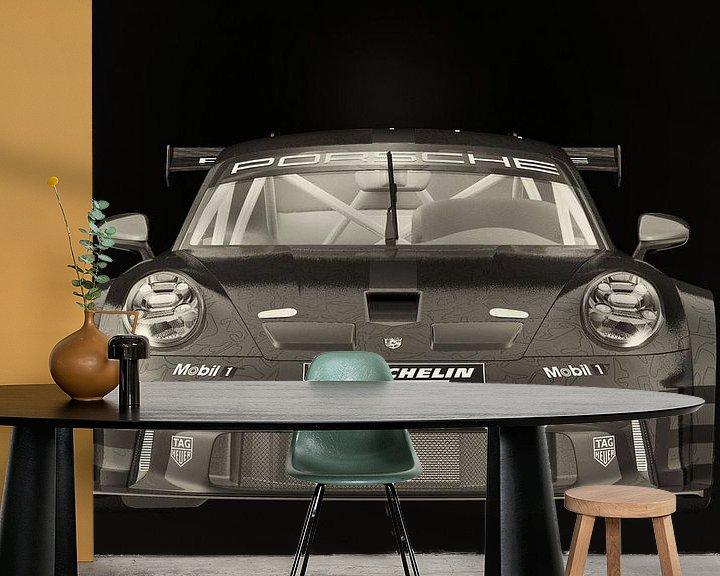 Sfeerimpressie behang: Porsche 911 GT-3 RS - Cup 2021 raceauto van Jan Keteleer