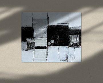 Strukturbild in Schwarz-Weiß von Claudia Neubauer