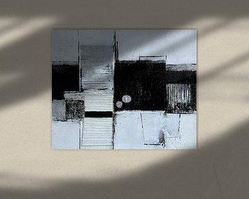 Strukturbild in Schwarz-Weiß