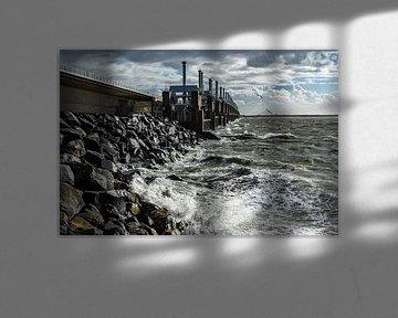 Sturmflutwehr Ostschelde in Zeeland von Jan Poppe