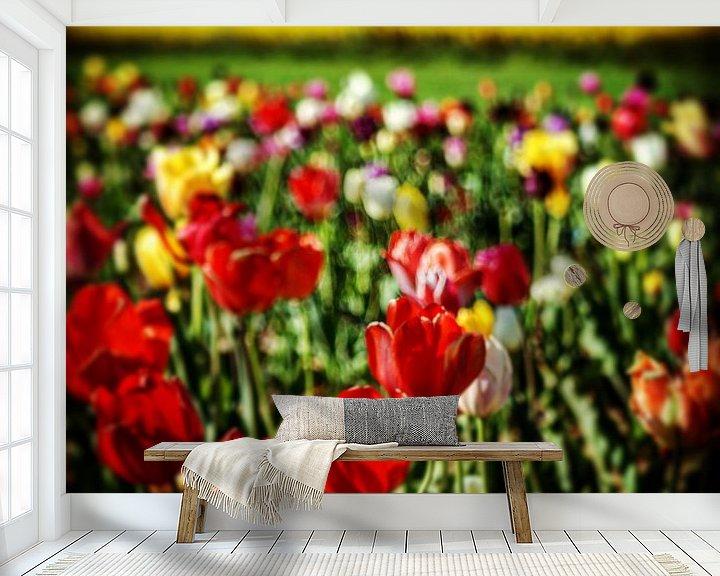 Beispiel fototapete: Tulpen Landschaft von Dusan Pintner