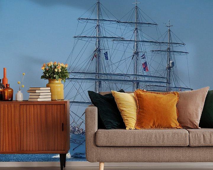 Beispiel fototapete: Vollschiff Christian Radich von Peter Morgenroth