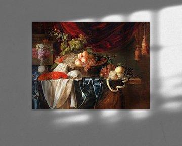 Ein Hummer, Obst und eine Vase voller Blumen, Andries Benedetti