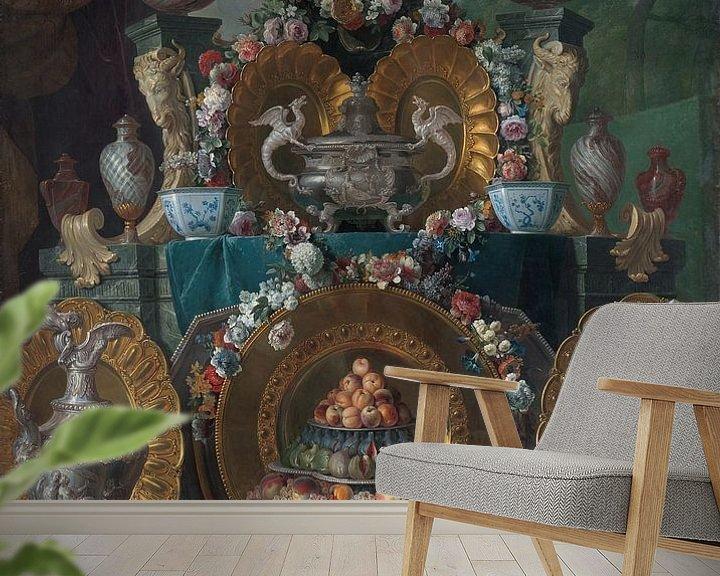 Beispiel fototapete: Stillleben mit Silber, Alexandre François Desportes