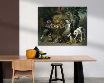Hunde, totes Wild und Früchte, Alexandre François Desportes