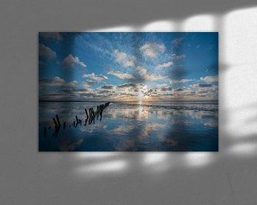 Wattenmeer Reflexion 1 von Erik Lei