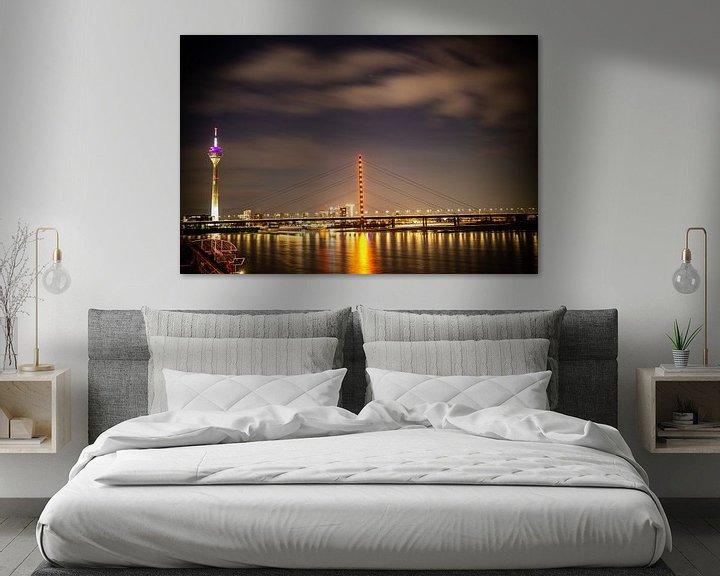 Sfeerimpressie: Düsseldorf nachtlandschap van Madan Raj Rajagopal