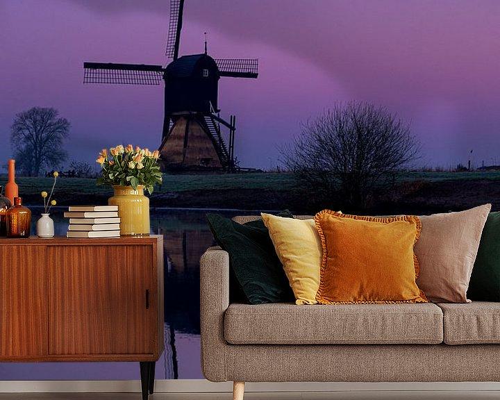 Beispiel fototapete: Mühle bei Mondschein von Paul Begijn