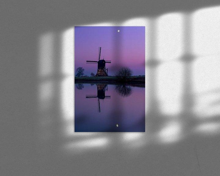 Beispiel: Mühle bei Mondschein von Paul Begijn
