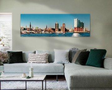 Hamburg skyline van Ursula Reins