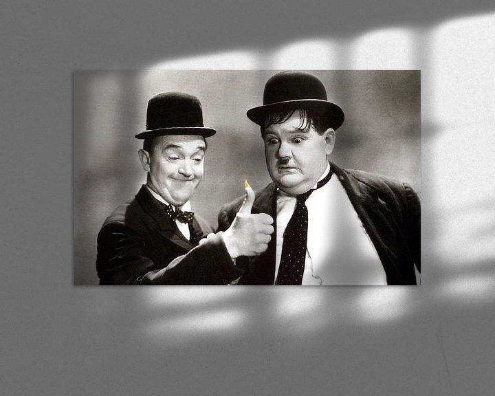 Sfeerimpressie: Stan Laurel en Oliver Hardy van Brian Morgan