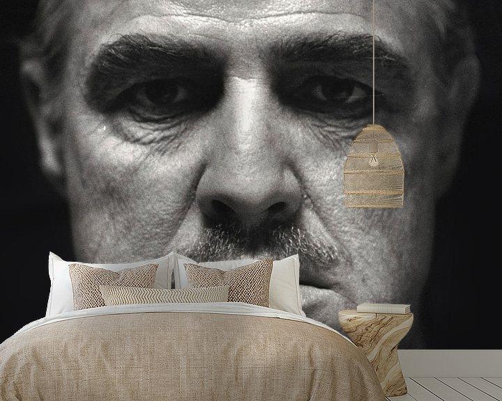 Sfeerimpressie behang: Marlon Brando van Brian Morgan