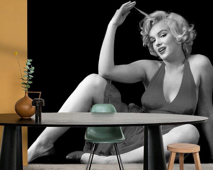 Sfeerimpressie behang: Marilyn Monroe van Brian Morgan