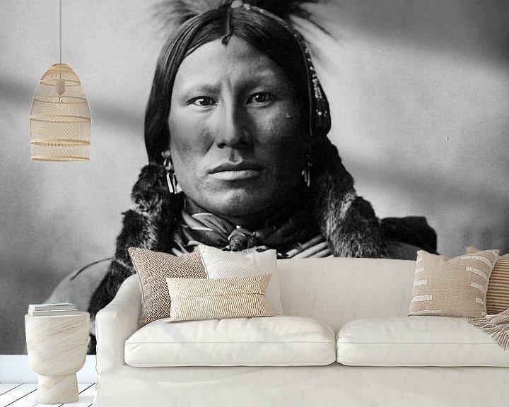 Sfeerimpressie behang: Native American (Indiaan) van Brian Morgan