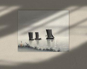 Fischerboote, Ohara Koson (1900 - 1936) von Atelier Liesjes