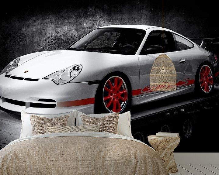 Sfeerimpressie behang: Porsche 911 GT3 RS Type 996 van aRi F. Huber