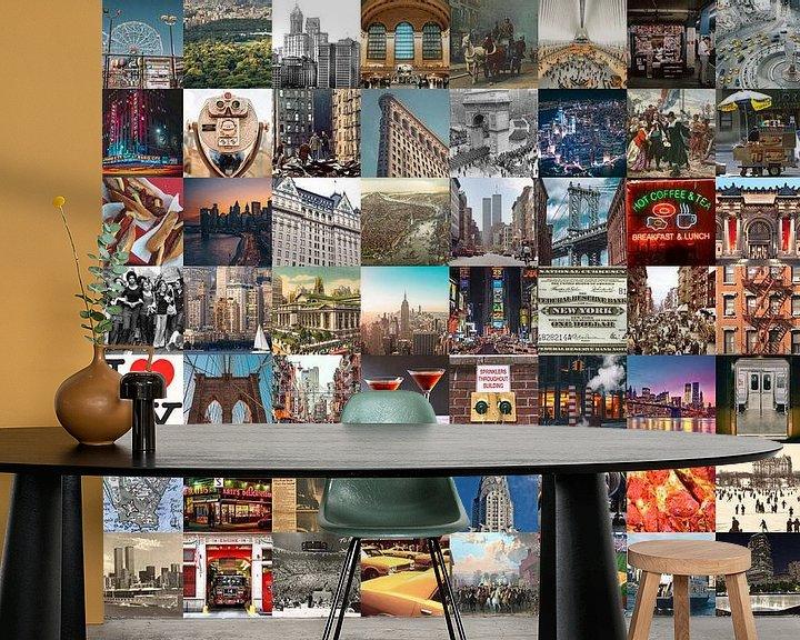 Impression: Typique de New York - collage d'images de la ville et de son histoire sur Roger VDB