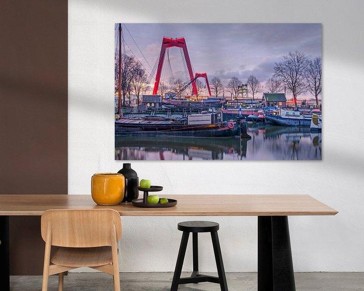 Sfeerimpressie: Willemsbrug en Oude Haven, Rotterdam van Frans Blok