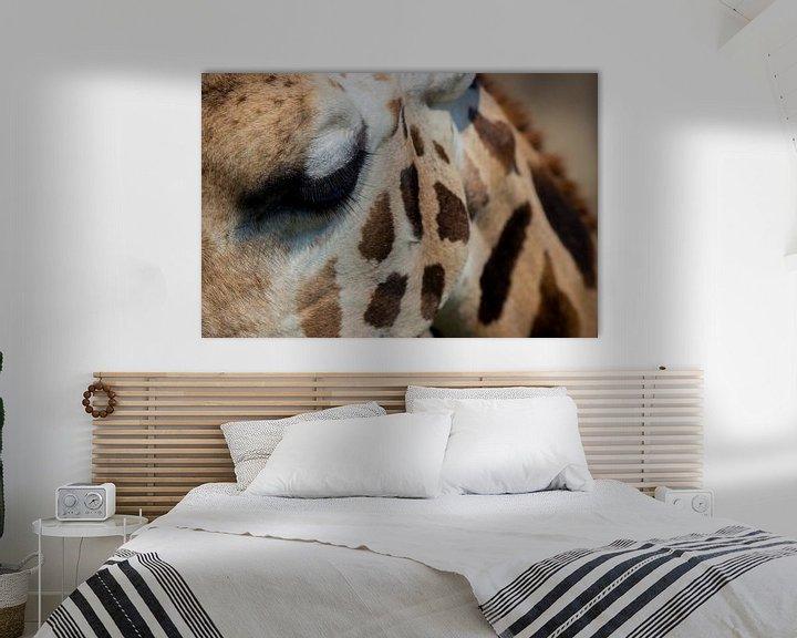 Beispiel: Das Auge der Giraffe von Loes Fotografie