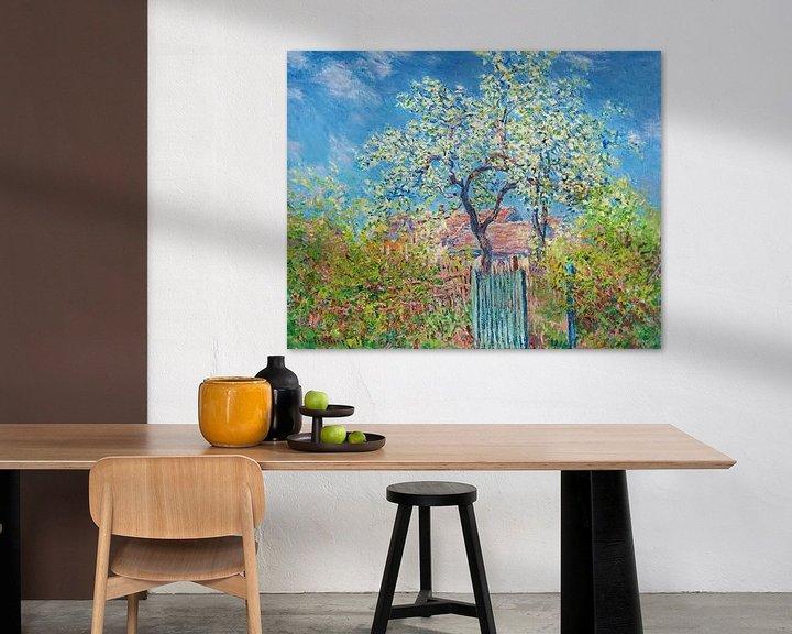 Beispiel: Blühender Birnbaum, Claude Monet