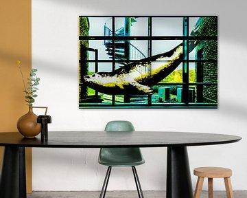 Schwimmen durch den Spiegel (Pop-Art-Dichtung) von Ruben van Gogh