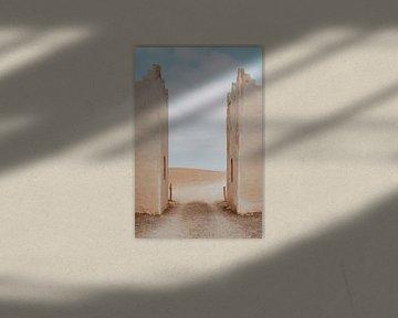 Porte d'entrée du désert d'Agafay au Maroc sur sonja koning