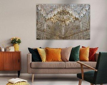 Alhambra - Deckendetail in der Sala de las Dos Hermanas von René Weijers
