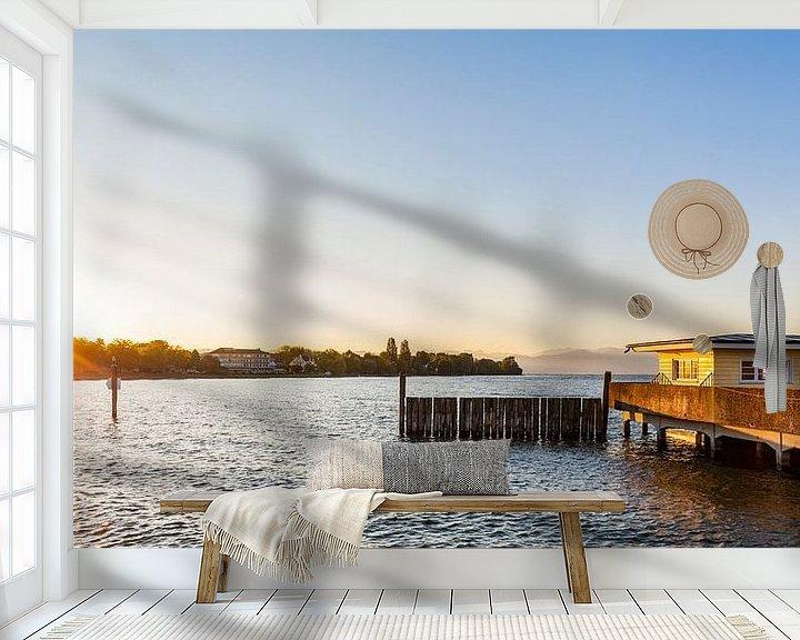 Beispiel fototapete: Langenargen am Bodensee bei Sonnenaufgang von Werner Dieterich