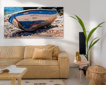 roeiboot op het droge van Corrie Ruijer
