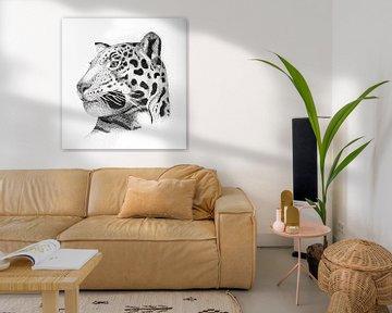 Leopard - Quadratisch von Lianne Landsman